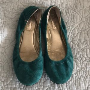 Halogen teal suede flats. Very good condition.